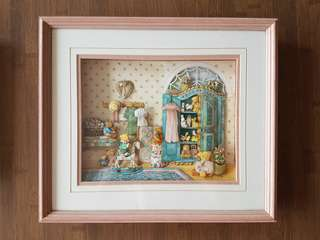 Baby Nursery Paper Tole Framed Art