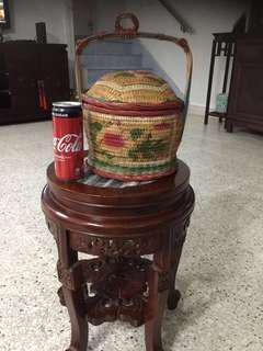 Vintage small wedding basket