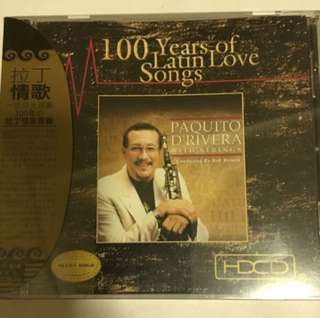 ( Top music ) 100 Years Of Latin Love Songs - Paquito D'rivera With Strings ( CD )