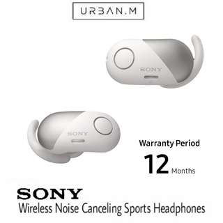 Sony WI-SP700N True Wireless Noise Canceling Sports In-Ear Headphones (White)