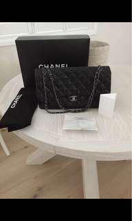 Authentic Chanel Single  Flap Bag with Store receipt