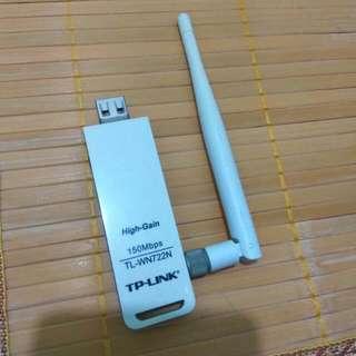 🎇[速銷價] 90%新 TP-Link 150Mbps High Gain Wireless USB Adapter (TL-WN722N) 高增益無線 USB 網路卡