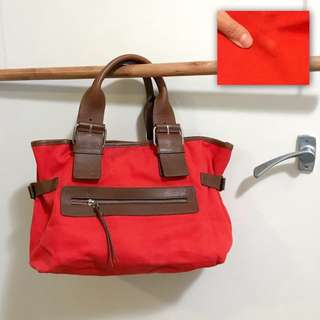 Country road leather canvas bag