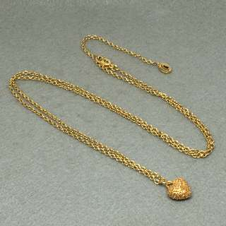 Juicy couture necklace 金色閃石心心頸鏈 全長82 cm