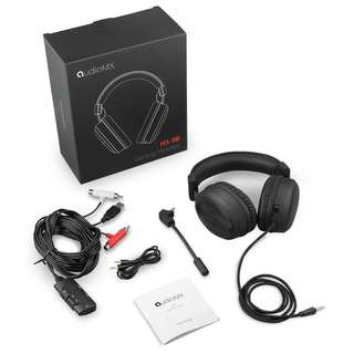 AudioMx HS-9B 7.1 Surround and Mic Remote, AudioMX Over-Ear Sound Isolation Gaming Headset for XBOX ONE / XBOX 360 / PC (Detachable Adapter for RCA / USB / 3.5 mm)