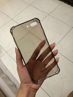REPRICE iPhone 7 plus / 8 plus Black Clear Jelly Softcase