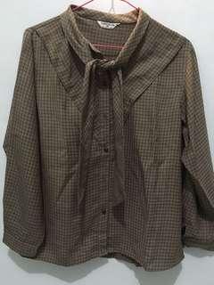 Brown Pattern Top