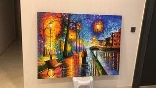 🚚 BN afremov canvas wrapped: melody of the night