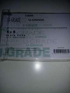 U grade plain cue cards