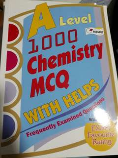GCE A level 1000 chemistry mcq