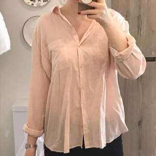 Glassons linen blend shirt size 8