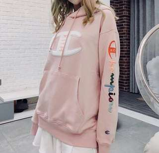 Kith x champion hoodies in blk or pink