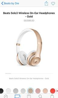 [available now]Beats Solo3 Wireless Headphones