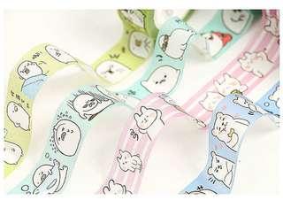 Little Pets Color Washi Tape