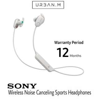 Sony WI-SP600N Wireless Sports Headphones with Noise Cancelling and IPX4 Splash Proof (White)