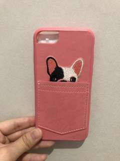 Iphone 6 case pink dog