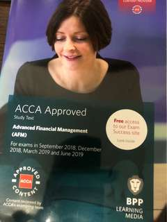 ACCA Advanced Financial Management Sep 2018 onwards exams Study Text