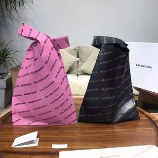 巴黎世家 羊皮购物袋