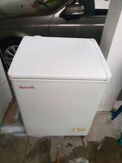 Used butterfly freezer peti beku peti ais refrigerator 110L in good condition
