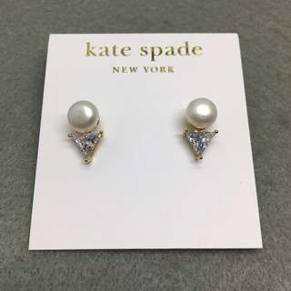 Kate Spade New York Sample Earrings 三角形閃石珍珠耳環
