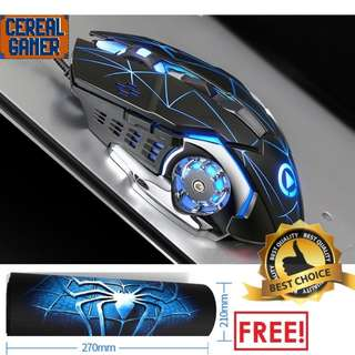 🚚 (New) Spiderman gaming mouse + Free Spiderman gaming mouse pad