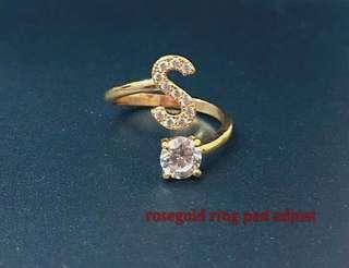 Initial ring-rosegold