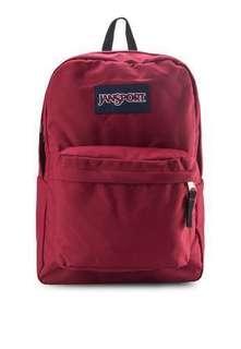 Jansport Backpack 棗紅色 書包 背包