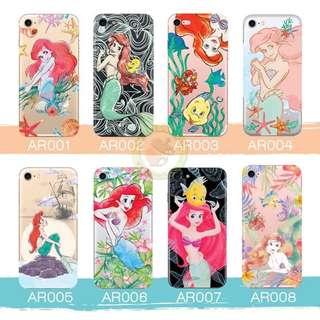 訂製多種型號 phone case 透明手機套 電話套 ariel Mermaid