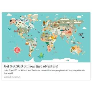 $45 off Airbnb voucher (Special!!)