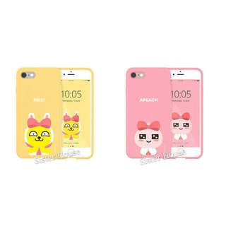 (包郵)🇰🇷Kakao Friends Ribbon Apeach Muzi Phone Case 軟手機殼