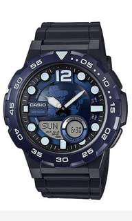 Casio AEQ 100W 1AV Analog and Digital Watch