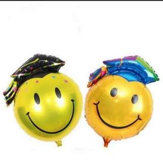 Smiley Graduation Foil Balloons Large size