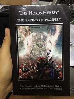 Warhammer 40k horus heresy the razing of prospero