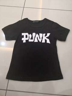 Punk Black Shirt(3-4y)