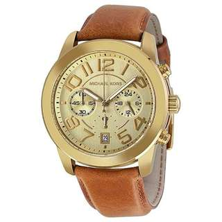 CHAMPAGNE DIAL BROWN LEATHER LADIES WATCH MK2251