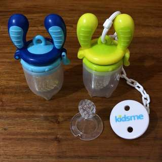 Kidsme Food Feeder Set - Aquamarine & Lime