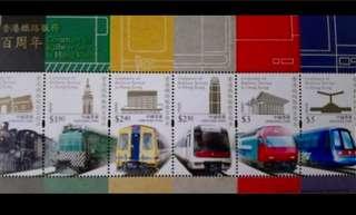 香港鐵路百週年郵票小全張