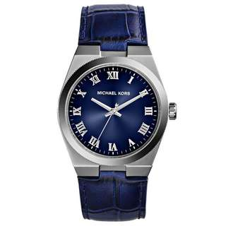 CHANNING BLUE DIAL BLUE LEATHER UNISEX WATCH MK2355
