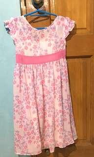 Pink Floral Sunday Dress 5-6yrs old