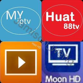 Trusted seller Myiptv/Huat 88tv/Hao Hd/Moon TV subscription