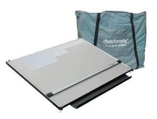 chartmate 恰得美 製圖桌 A1加大攜帶式製圖版&A型製圖架