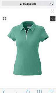 (L) Columbia Ladies Hiking polo shirt in almost looks new conditions