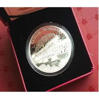 ★ CANADA $30 - 2014 Grand Trunk Pacific Railway. 1x 2 Troy Oz. 9999 Fine Silver Proof coin
