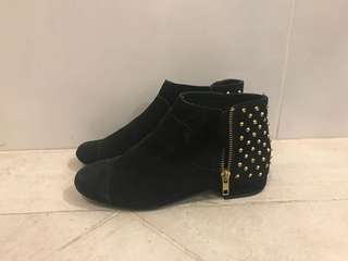 Topshop flat studded boots