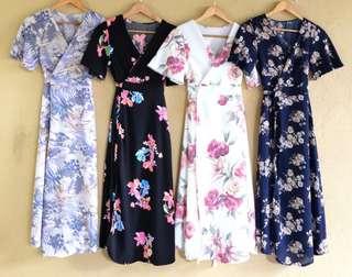Kira Overlap Maxi Dress (BEST SELLER)