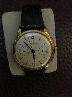 Universalgeneve 18k古董計時錶