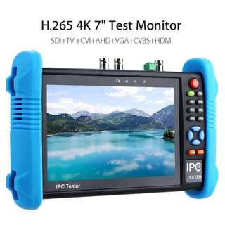 """All in One CCTV Tester-IP & Analog Camera Tester with 7""""inch IPS Touch Screen Monitor CVBS Tester with HD-TVI/HD-CVI/AHD/SDI/POE/WIFI/8G TF Card/4K H.265/HDMI In & Out/RJ45 TDR/Firmware Upgraded"""