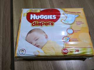 🚚 Huggies Gold Diapers NB