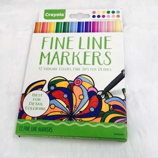 Crayola Adult Coloring Fine Line Markers - Contemporary Colors
