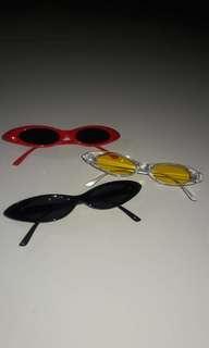 Kacamata segitiga retro/sunglasses murah